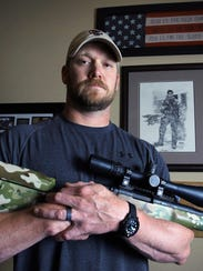 """The late Navy SEAL Chris Kyle, author of the book """"American"""