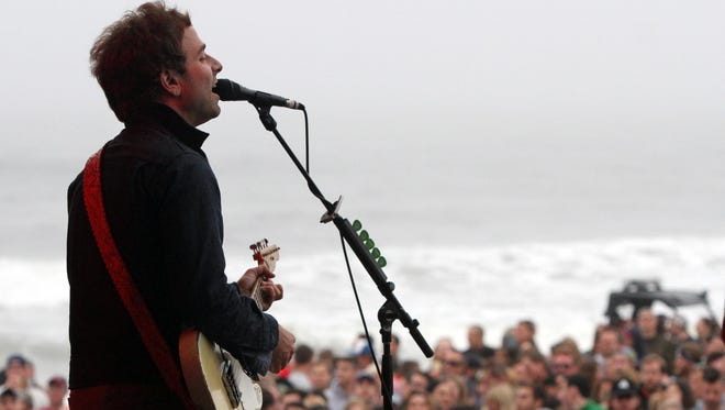 Dawes plays on the main stage during the first day of the Mumford & Sons Gentlemen of the Road Stopover music festival in June.