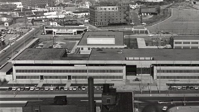 Opened in 1969, The Civic Center Complex housed city and county government officials, agencies, courts, school administration and originally a jail.