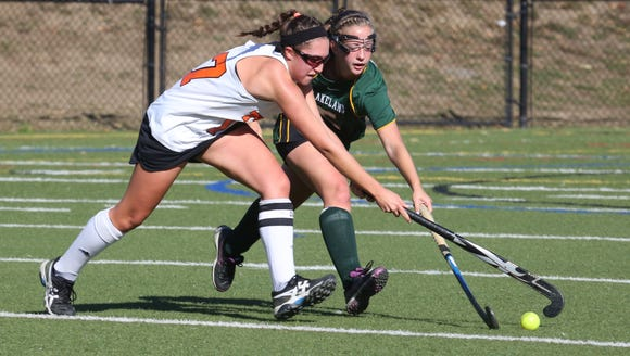 Mamaroneck's Paige Danehy, left, and Lakeland's Kelsey