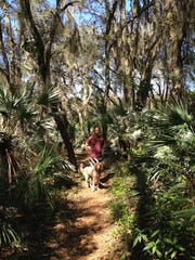 This dog-friendly, 2-mile trail in Merritt Island Wildlife Refuge is perfect for trail running, hiking or biking.