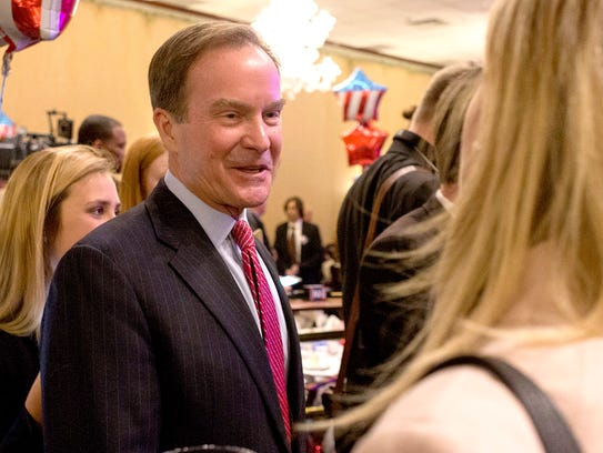 Michigan Attorney General Bill Schuette speaks to a
