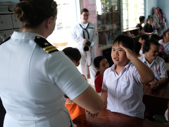A Vietnamese person suffering the affects of Agent