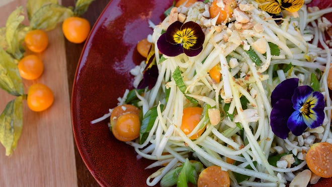 Raw Green Papaya Salad at Match Cuisine & Cocktails