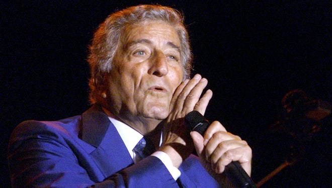 Tony Bennett performs at The Greek Theatre in Los Angeles, Ca. on Sept. 15, 2001.