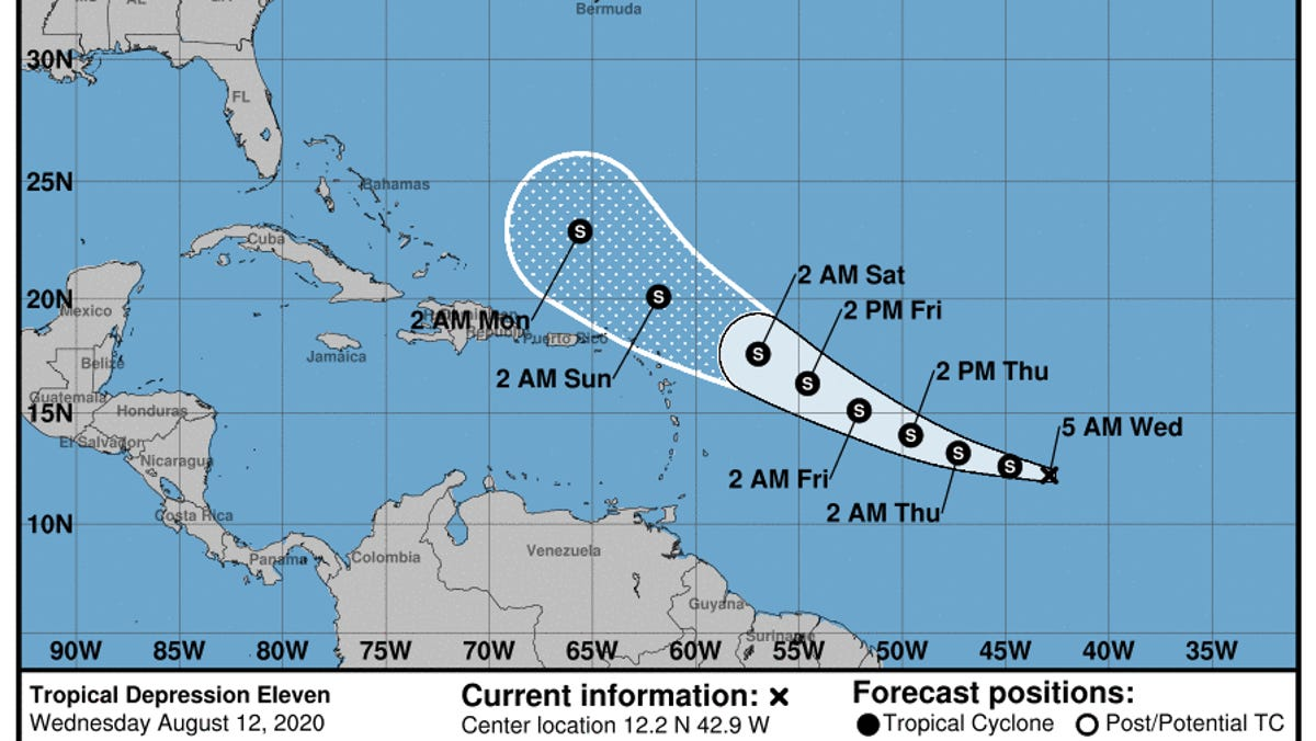 Tropical Depression 11 Forms Expected To Become Josephine