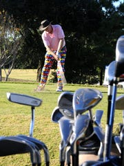 Frank Byers practices for the Santa Claus Open Golf Tournament at Hobe Sound Golf Club. The 14th Santa Claus Open: Cocktail Party, 6 p.m. Dec. 7. Golf Tournament, 7:30 a.m. Dec. 7. The Stuart Yacht & Country, 3883 S.E. Fairway E., Stuart. Individual Player: $250 Foursome: $900, $1000 after Nov. 28. www.mentorbig.org; facebook.com/mentorbig