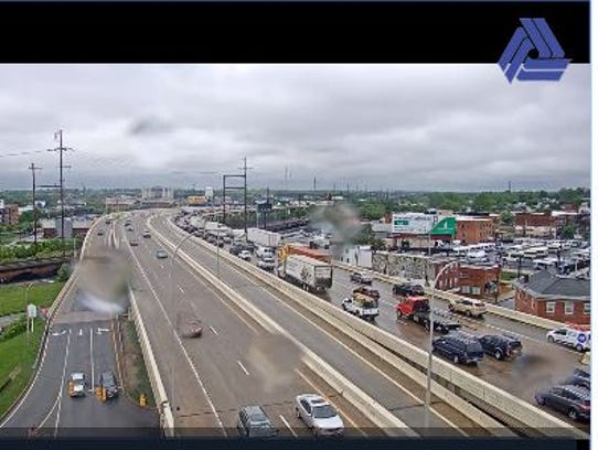 Crash on southbound I-95 is creating backups in Wilmington.