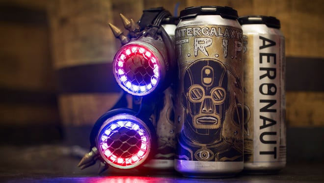 Boston-based band The Lights Out are selling their new album as a beer brewed by Aeronaut, with artwork by Raul Gonzalez.