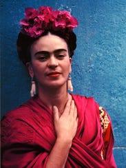 Frida Kahlo en su Casa Azul.