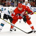 Wings' Nyquist scores 2, Howard blanks Sharks