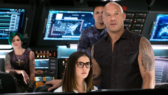 "Vin Diesel, Tony Gonzalez, Nina Dobrev and Ruby Rose star in ""xXx: Return of Xander Cage."""