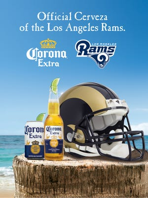 Constellation Brands announced Monday that it has a new sponsorship deal for Corona Extra with the Los Angeles Rams.