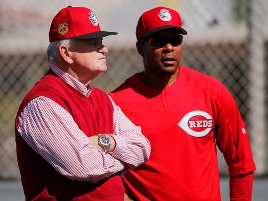 Cincinnati Reds CEO Bob Castellini talks with special