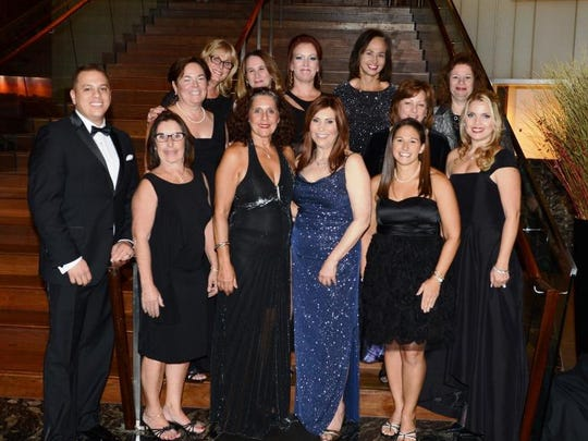 The Auxiliary of Robert Wood Johnson University Hospital Board at the 57th Annual Ball at the Hyatt in New Brunswick.