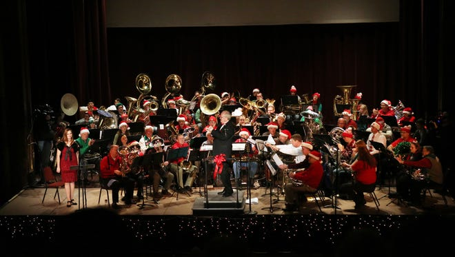Low brass instruments will spread tidings of comfort and joy during the Salem Tuba Holiday Wednesday, Dec. 24 at the Elsinore Theatre.