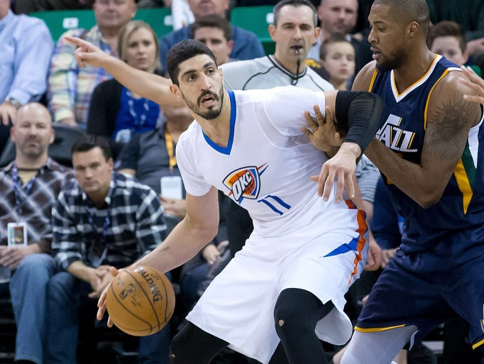 Enes Kanter took out his frustrations by punching a