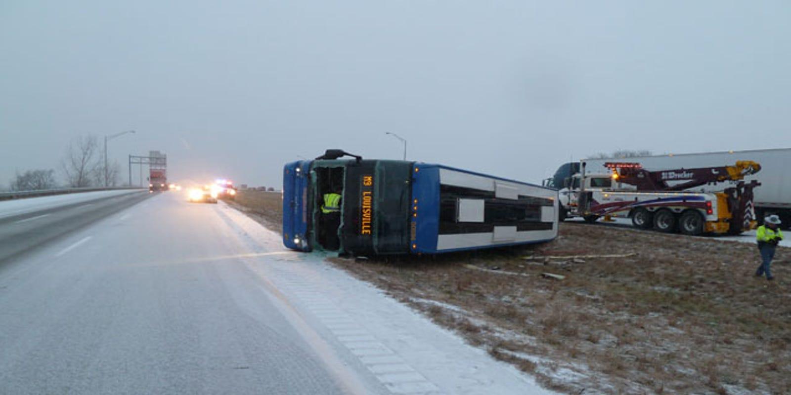 Passengers injured during Megabus crash on I-65 headed to