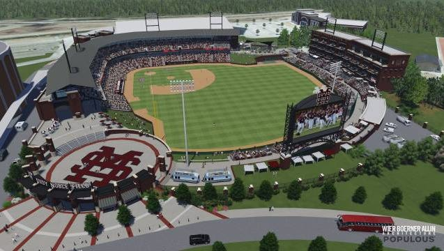 Mississippi State released a master plan for renovation to Dudy Noble Field last August.