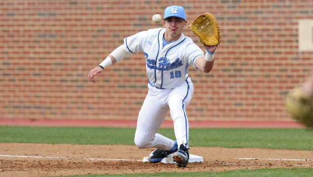North Henderson alum Zack Gahagan started over the weekend in the first season of the series for No. 6 North Carolina.