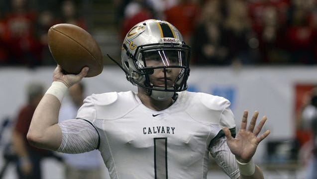 Calvary Baptist quarterback Shea Patterson committed to Ole Miss on Tuesday.