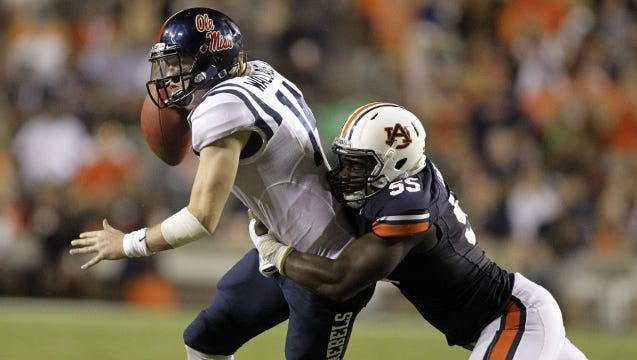 Carl Lawson has returned from a season-ending knee injury.