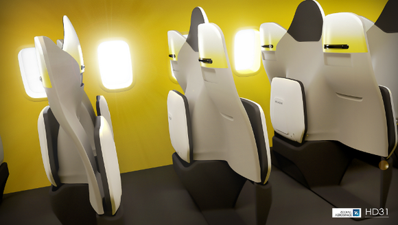A rendering of a now-patented seating concept from
