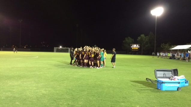 ASU soccer limited Portland State to two shots Friday night in a 3-0 season-opening win.