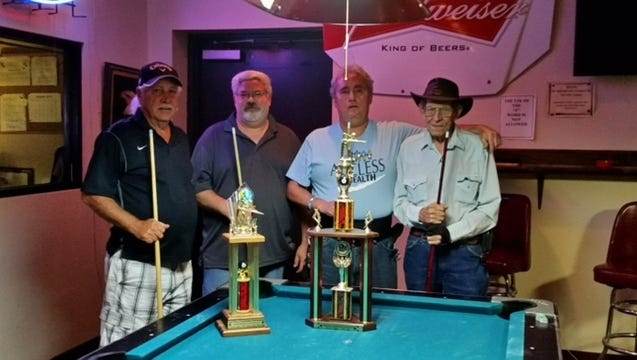 Aug 22 was another fun day at the Eagles Club. In their Friendship Pool Tournament, First place was taken by Curly Burton and Rey Montoya from the VFW. Second place was Smitty Smith and Doug Beard playing for the Eagles.