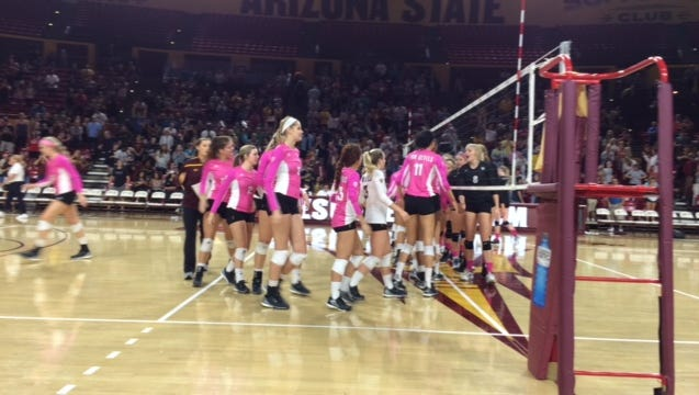 No. 13 ASU volleyball completed a weekend sweep Saturday with a 3-1 win over Colorado.