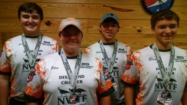 This team finished 2nd place for DC Steel Shooters. From left: Jack Arrington, Ethan Rogan, Holton Hamilton, Ben Koivula.