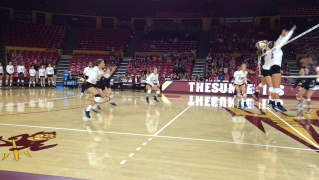 No. 14 ASU volleyball lost 3-0 at No. 7 Stanford on Wednesday, unable to complete a season sweep of the Cardinal.
