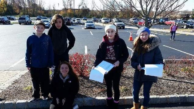 Photo is of some members of the Youth Group who volunteered