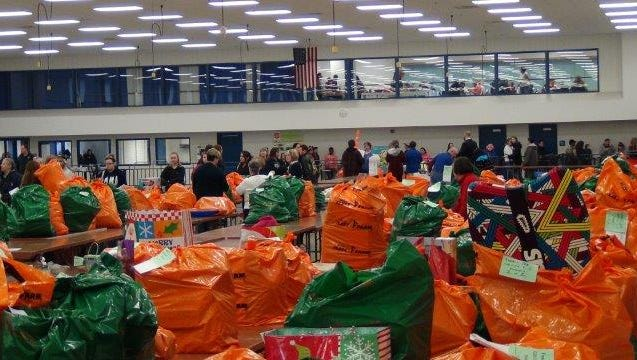 The Salvation Army's Distribution Day was held Dec. 16 at the Fond du Lac County Fairgrounds Recreation Building.