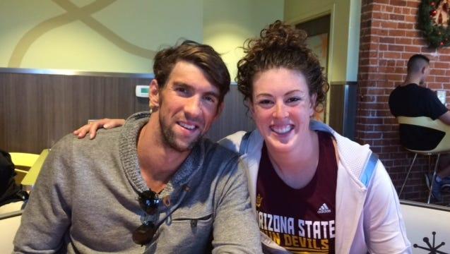 Olympians Michael Phelps and Allison Schmitt will swim in exhibition races during the ASU vs. Arizona dual meet Feb. 6.