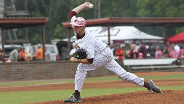 ULM junior pitcher Brayden Bouchey was named the Sun Belt Pitcher of the Week after striking out 12 batters and allowing one hit and two runs in seven innings in ULM's 5-4 loss to Appalachian State.