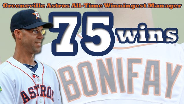 Roberson graduate Josh Bonifay recently became the all-time winningest manager for the Greeneville (Tenn.) Astros.