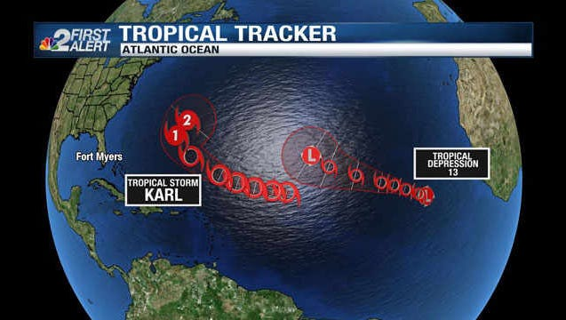 The development of Tropical Depression 13 means two systems are now active in the Atlantic basin.