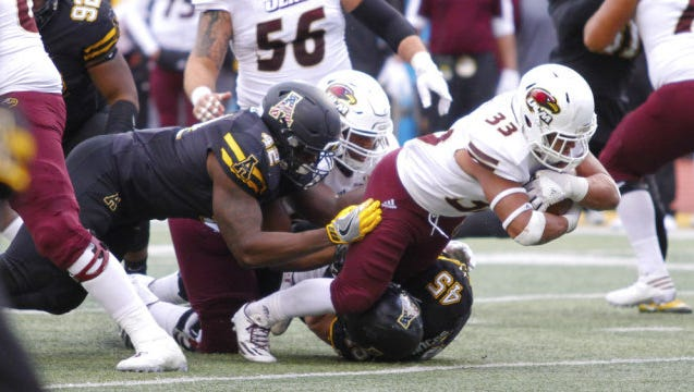 Austin Vaughn (33) became the sixth different ULM player to lead the team in rushing this season.