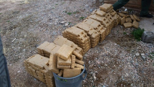 The U.S. Border Patrol found 295 pounds of marijuana on Jan. 16 in an abandoned home in Columbus, N.M.