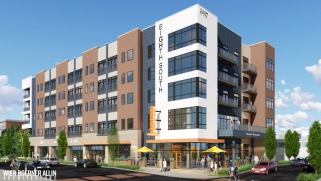 Retail space at the Eighth South mixed-use development on a portion of the former Colonial Bakery property on Franklin Road is now fully leased.