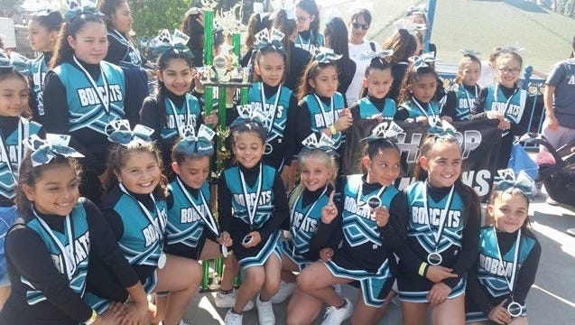 Mountain Vista Elementary School's cheer team are fundraising to attend a national cheer competition in Las Vegas in April.