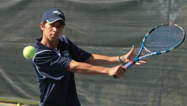 Wolf Pack alum Moez Echargui, shown during his playing days at Nevada, ended Marcos Baghdatis' record Davis Cup winning streak Friday at 36 victories.