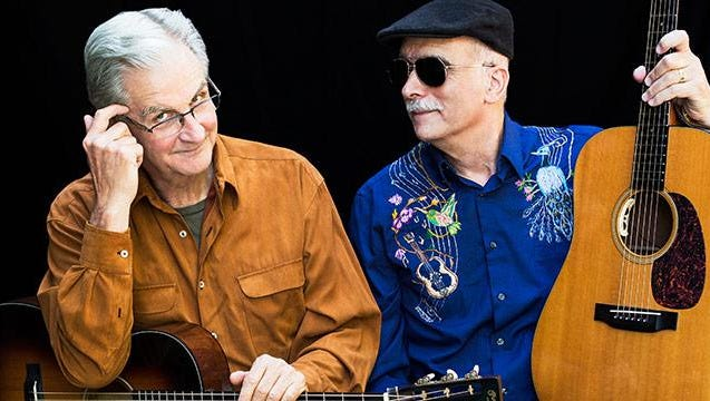 Geoff Muldaur and Jim Kweskin play The Little Theatre on April 30.