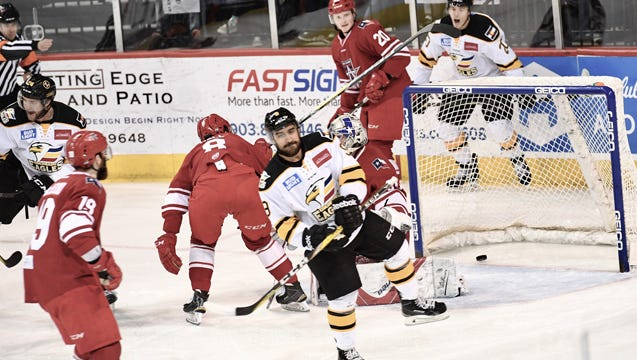The Colorado Eagles beat the Allen Americans 5-2 Saturday night in Allen to take a 2-0 lead in the second-round ECHL playoff series.
