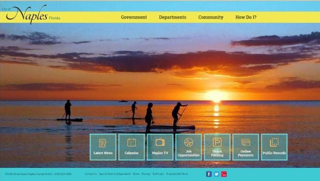 New city of Naples website gives easier access to public records, city clerk says.