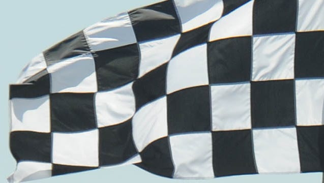Checkered flag Thursday May 8,  2014 at The Indianapolis Motor Speedway.