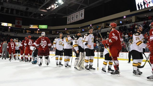 The Colorado Eagles beat the Allen Americans 4-3 on Tuesday night to secure a 4-2 series victory.