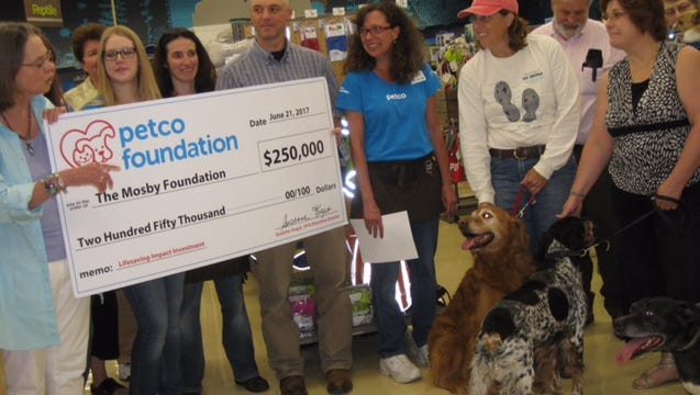 The Mosby Foundation was recently awarded $250,000 from the Petco Foundation to further its mission in saving dogs.