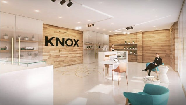 A rendering of the inside of Knox Medical, which will operate York County's first medical marijuana dispensary in Penn Township. (Courtesy of Knox Medical)